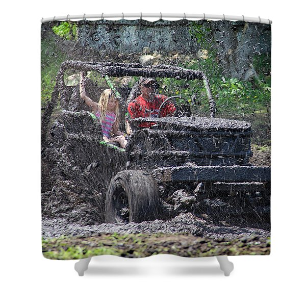 Mud Bogging Shower Curtain