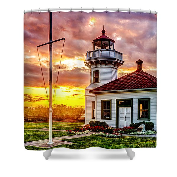 Mukilteo Lighthouse No. 2 Shower Curtain
