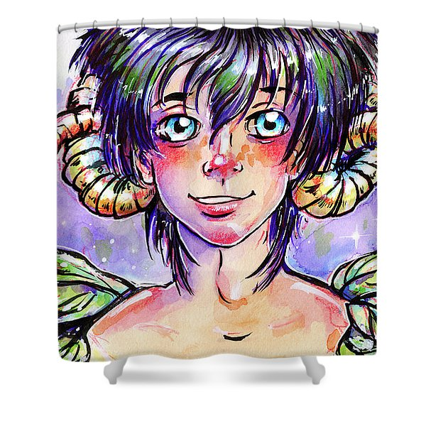 Mulberry Faun Shower Curtain