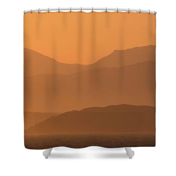 Mull Sunrise Shower Curtain