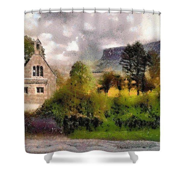Mullaghnaneane Church And Ben Bulben Shower Curtain