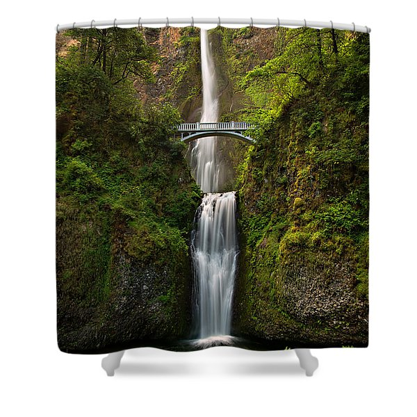 Shower Curtain featuring the photograph Multnomah Falls by Mary Jo Allen