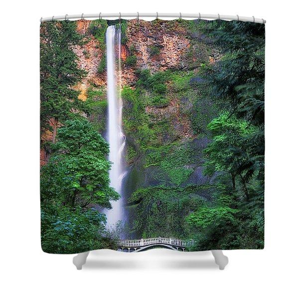 Multnomah Falls Portland Oregon Shower Curtain