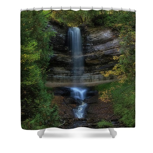 Shower Curtain featuring the photograph Munising Falls by Heather Kenward