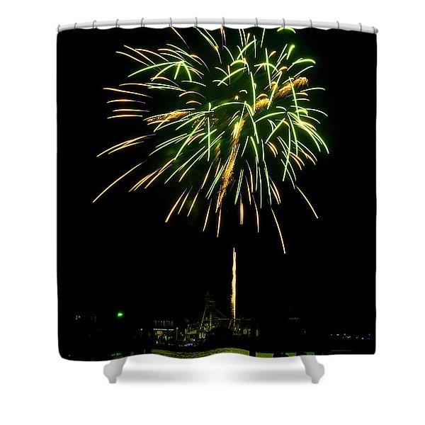 Murrells Inlet Fireworks Shower Curtain