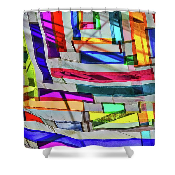 Museum Atrium Art Abstract Shower Curtain