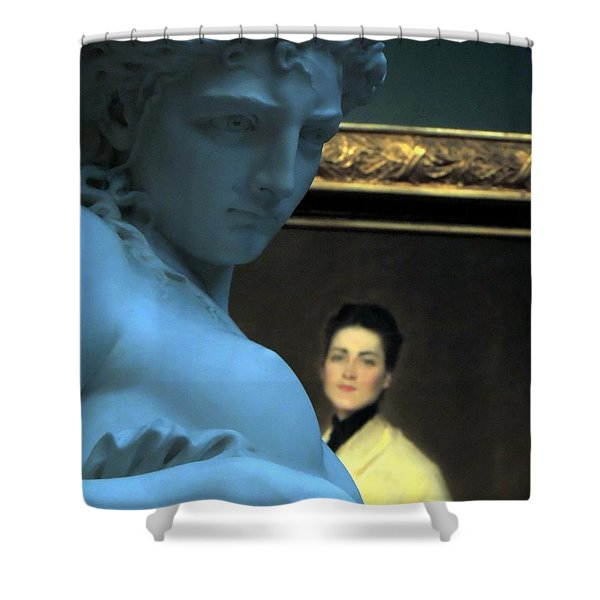 Museum Critic Shower Curtain