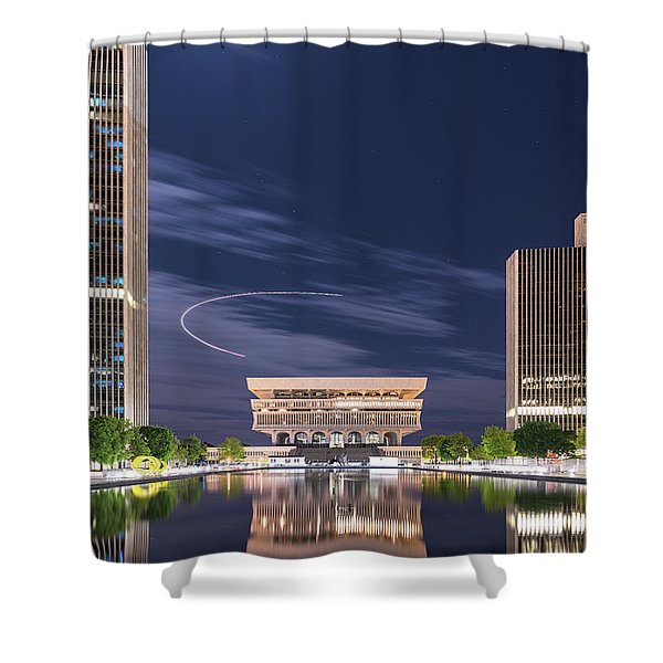 Museum Flyby Shower Curtain