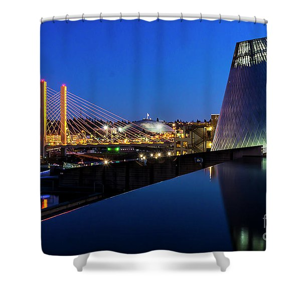 Museum Of Glass At Blue Hour Shower Curtain