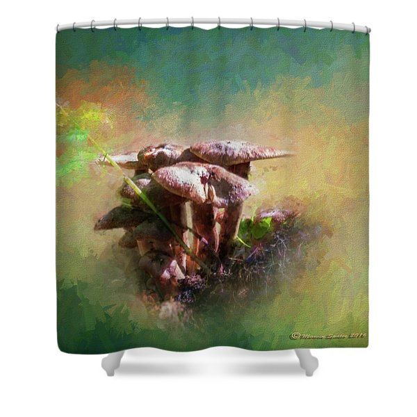 Mushroom Patch Shower Curtain