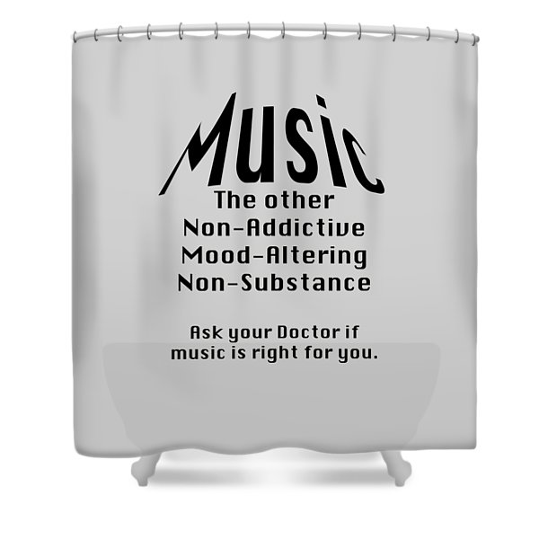 Music Is Right For You 5502.02 Shower Curtain