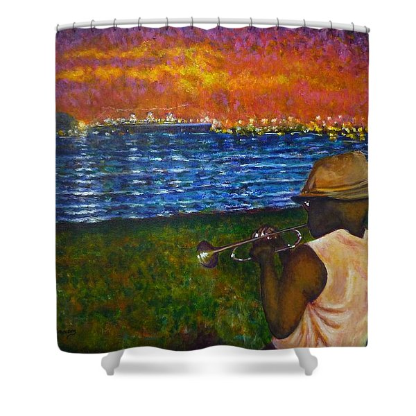 Music Man In The Lbc Shower Curtain