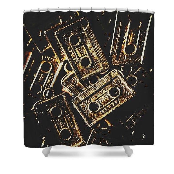 Music Nostalgia Shower Curtain