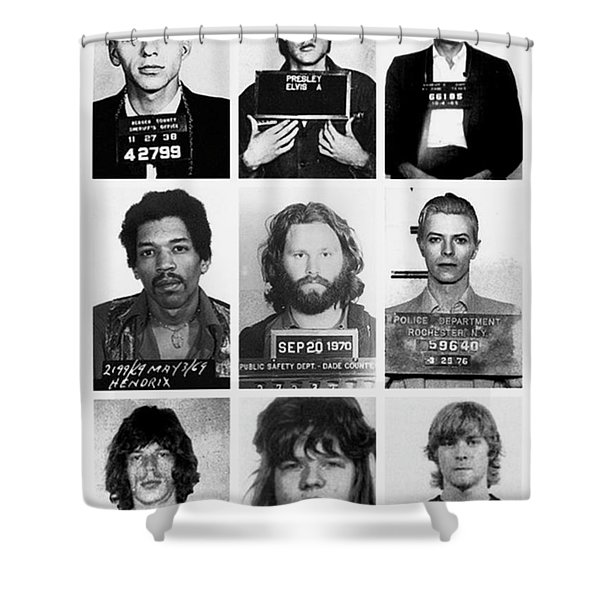 Musical Mug Shots Three Legends Very Large Original Photo 9 Shower Curtain