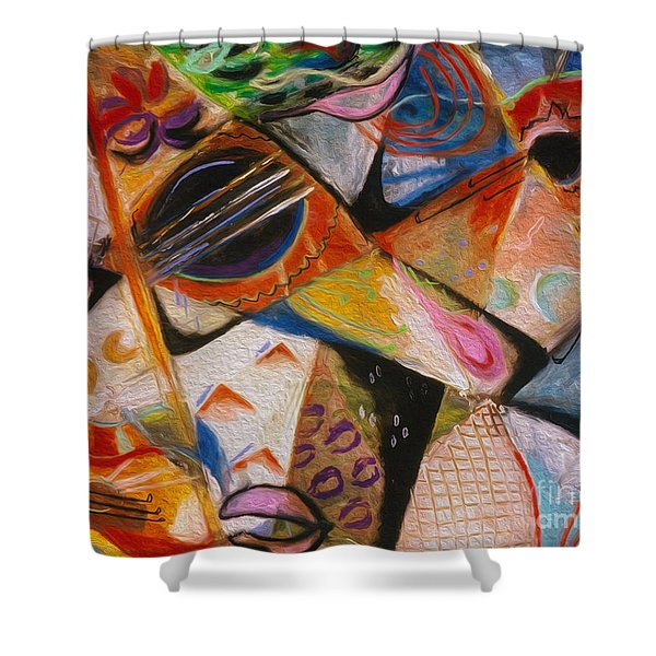 Musical Pastels Shower Curtain