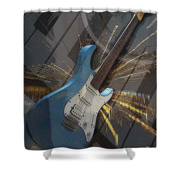 Musical Poster Shower Curtain