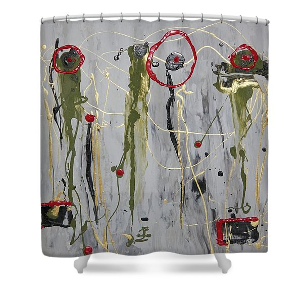 Musical Strings Shower Curtain