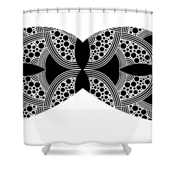 Mustache Tee Shower Curtain