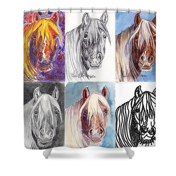 Mustang Mare 1154 Shower Curtain
