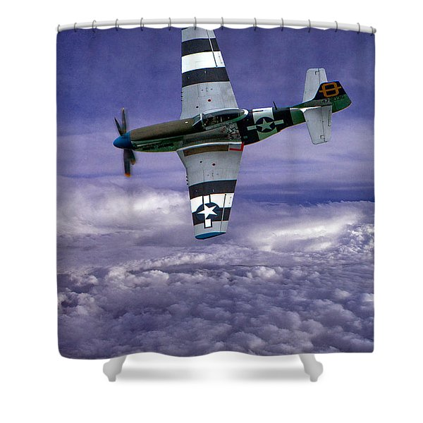 Mustang On Patrol Shower Curtain