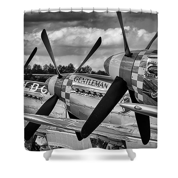 Mustang Row Shower Curtain