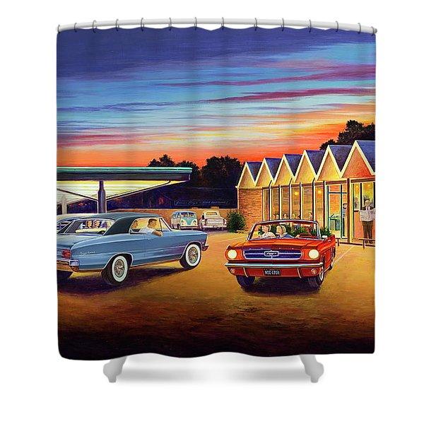 Mustang Sally - Shelton's Diner 2 Shower Curtain