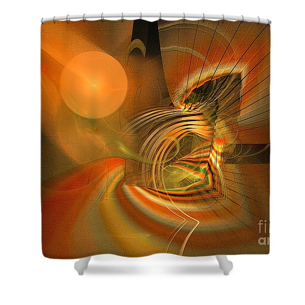 Mutual Respect - Abstract Art Shower Curtain