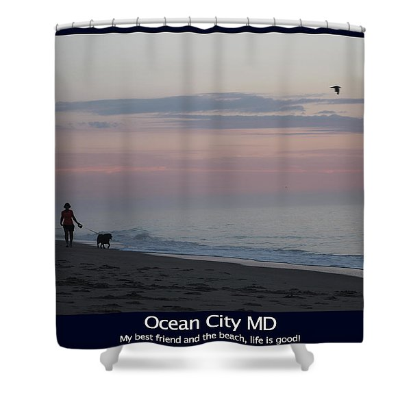 My Best Friend And The Beach Shower Curtain