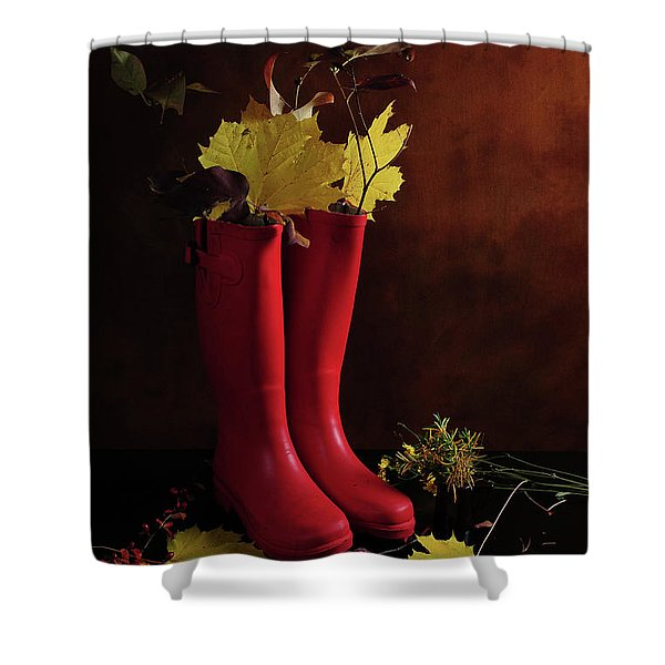 My Boots Are Cool Shower Curtain