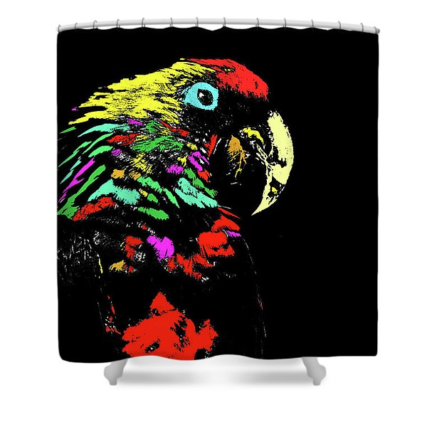 My Colorful Mccaw Shower Curtain