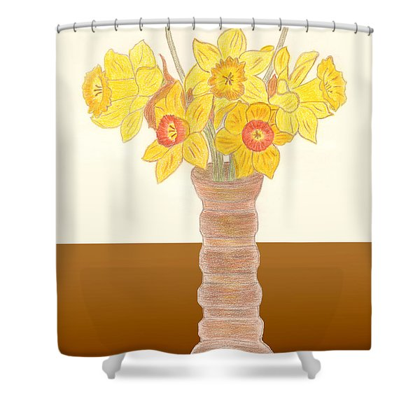 My Daffodils Shower Curtain