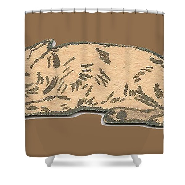 My Dog Tricksy Sleeping Shower Curtain