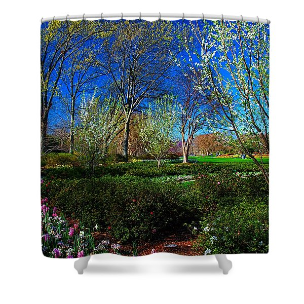 My Garden In Spring Shower Curtain