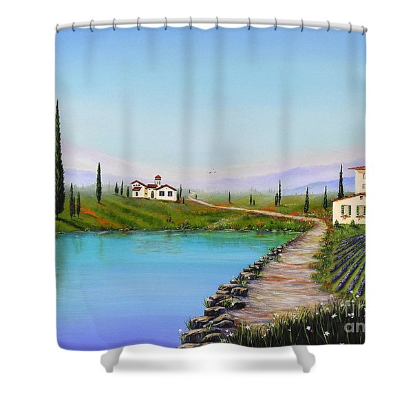 Shower Curtain featuring the painting My Garden by Mary Scott