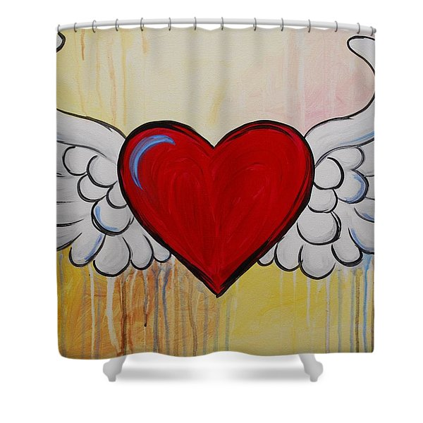 My Heart Has Wings Shower Curtain