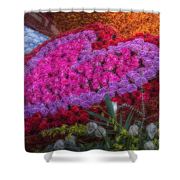 My Heart Of Roses Shower Curtain