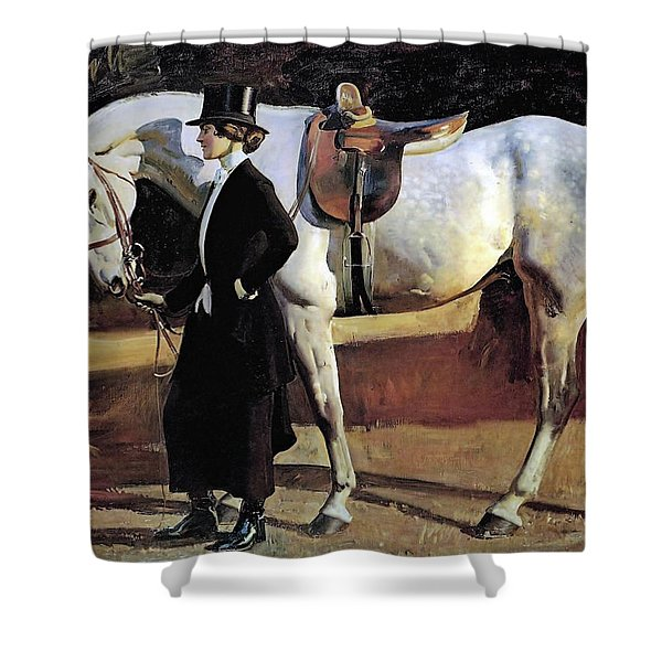 My Horse Is My Friend  Shower Curtain