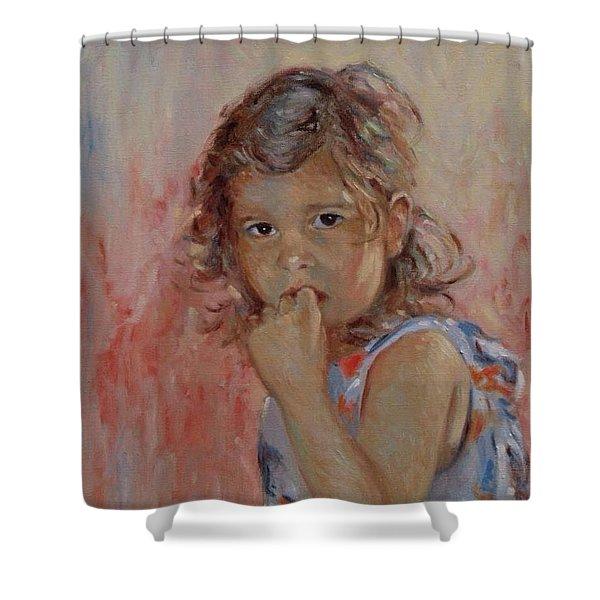 My Little Baby  Shower Curtain