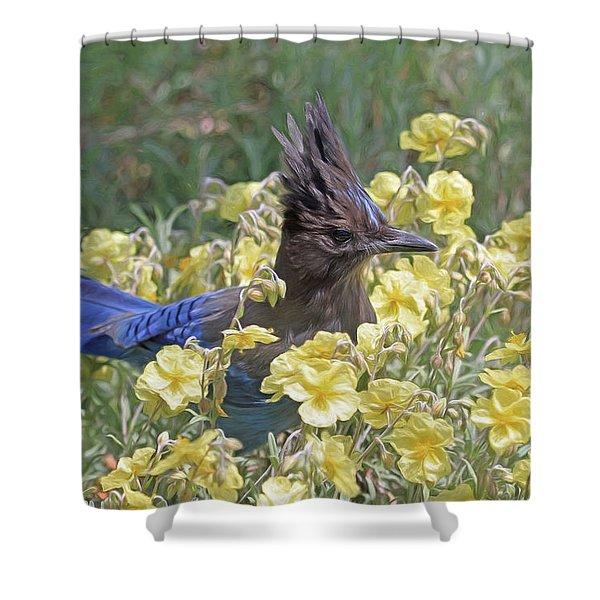 My Little Friend Shower Curtain