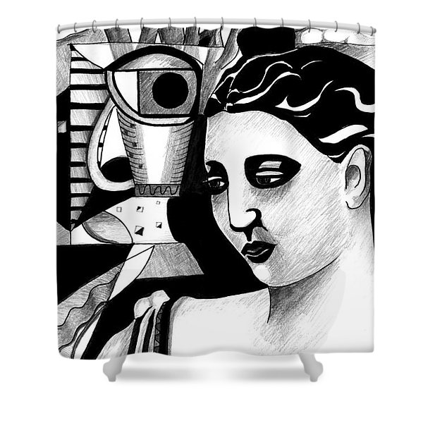My Outing With A Young Woman By Picasso Shower Curtain