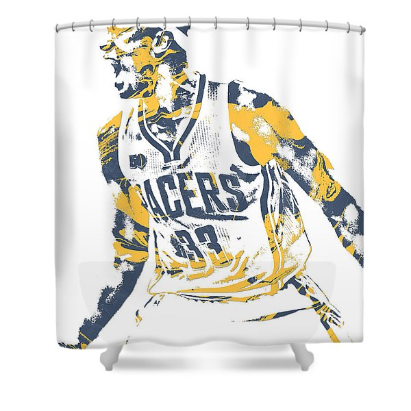 Myles Turner Indiana Pacers Pixel Art 1 Shower Curtain