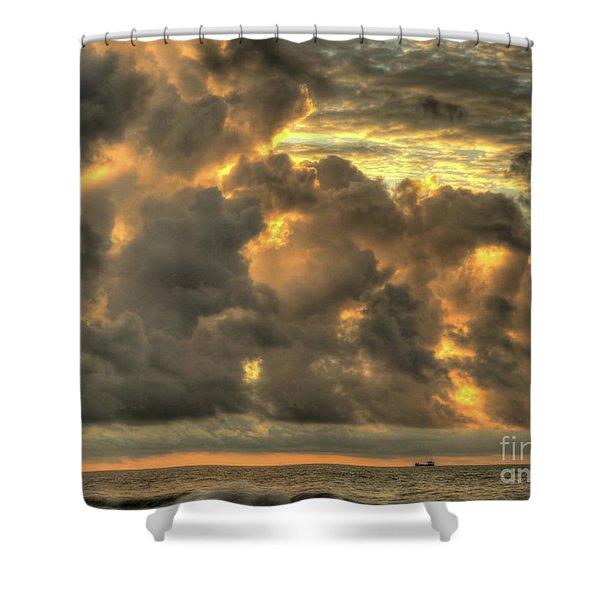 Myrtle Beach Seascape Shower Curtain