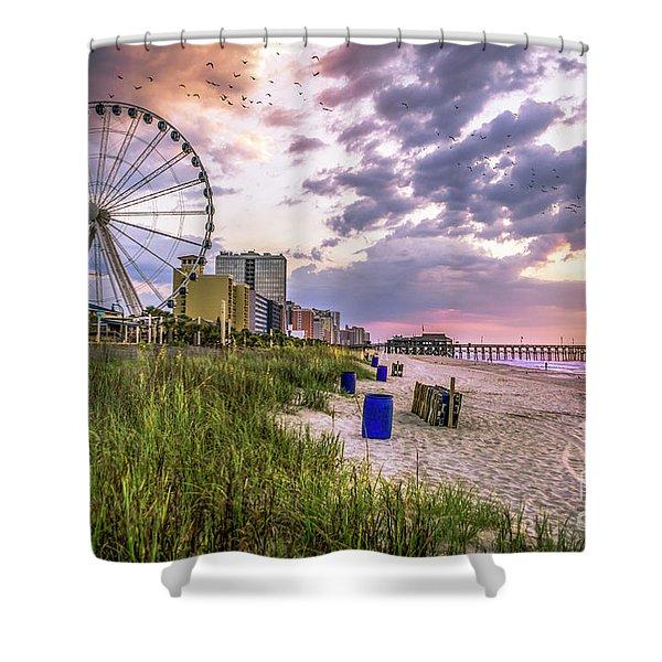 Myrtle Beach Sunrise Shower Curtain