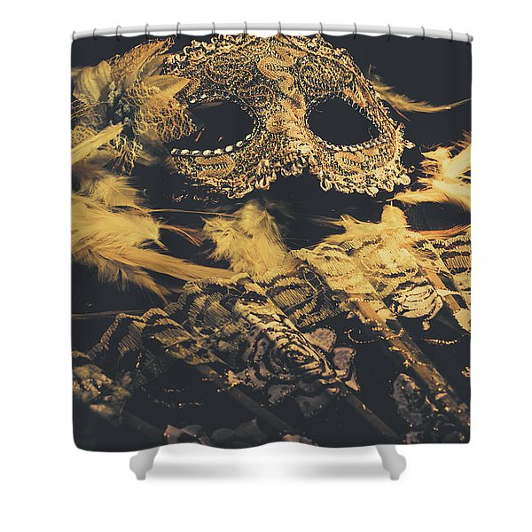 Mysteries In Play Acting Shower Curtain