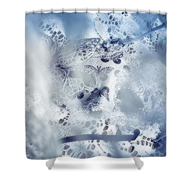 Mysterious Carnival Mask Shower Curtain