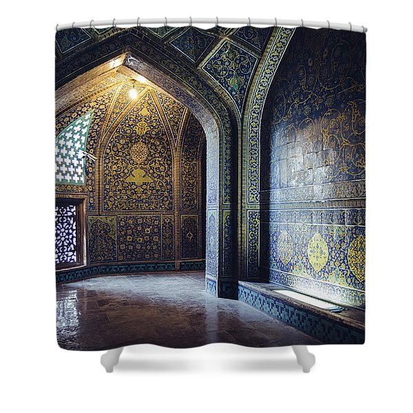 Mysterious Corridor In Persian Mosque Shower Curtain