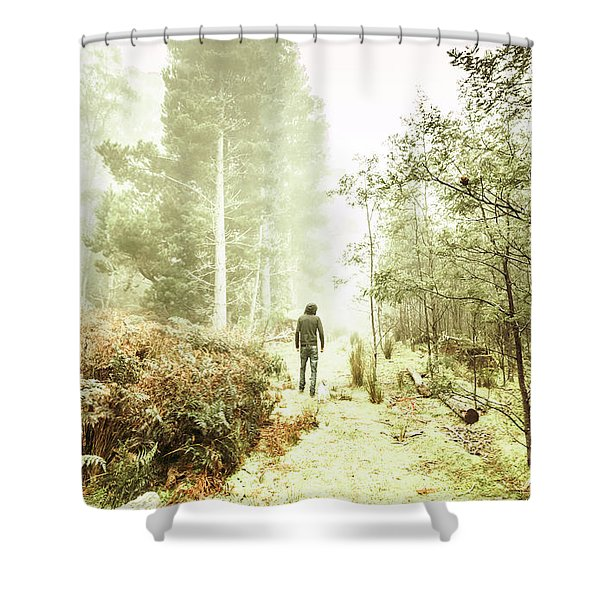Mysterious Trail Shower Curtain