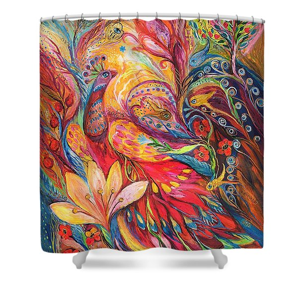 Mystery Of Blue Pigeons Shower Curtain
