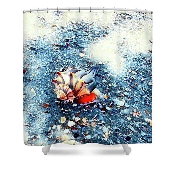 Mystic Conch Shower Curtain