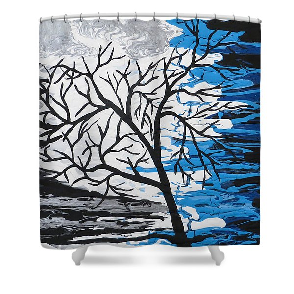 Mystic Night Shower Curtain